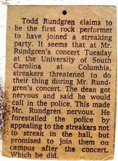 Todd Rundgren, University Of South Carolina, Music, Musica, Musik, Muziek, Music Activities, Songs