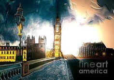 London Art by Karen Harding London Art, America, Fine Art, Wall Art, City, Painting, Design, Painting Art, Cities