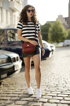 Marc B. Marsala Bag Boxy Top Missguided Crop Top Adidas Superstars Light Grey Spots Fashionblogger Modeblogger Berlin Black Leather Mini Skirt
