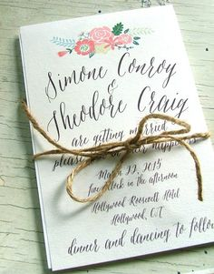 Great Calligraphy Wedding Invitations- handwritten look wedding invitations
