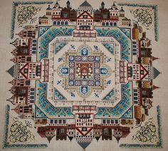 Chatelaine Designs - Medieval Town Mandala  - finish this! And a whole lot of other Chatelaines!