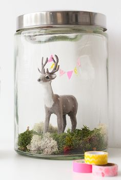 Bird (and a deer) in a jar DIY | Elske | www.elskeleenstra.nl