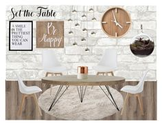 """Set the Table"" by sarahcb2002 ❤ liked on Polyvore featuring interior, interiors, interior design, home, home decor, interior decorating, Belle Maison, Safavieh, Sonneman and 3R Studios"