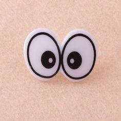 10 Plastic Black White Conjoined Animal DOLL Eye TOY Make Craft DIY 24x40 mm NEW #No