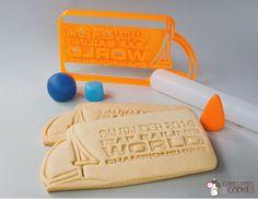 Ahora hacemos las galletas con cortadores 3D a la medida. Celebramos el Mundial de Vela en Santander 2014 con este