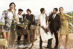 Bianca Balti Catherine McNeil Eva Herzigova Dolce Gabbana SS2014 ad campaign