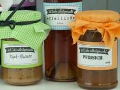 Früchte - Mit Liebe selbstgemacht: Etiketten - Marmelade usw - ein Designerstück von beiwerk bei DaWanda