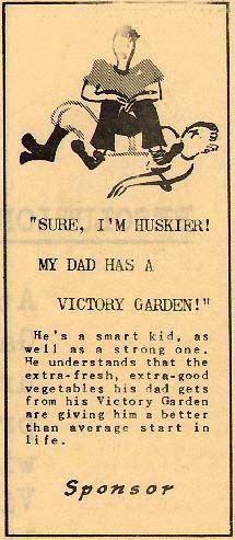1945 Victory Garden ad Dig For Victory, Victory Garden, World War Ii, Victorious, Gardens, Teacher, Preserving Food, Activities, History