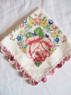Beautiful Vintage Hankie by jclairep on Etsy, $4.00