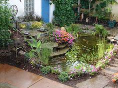 """Garden pond using """"Rock on a Roll"""""""