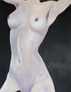 Nude body painted with acrylic Female Body Paintings, Female Body Art, Black Acrylic Paint, Acrylic Canvas, Woman Painting, Figure Painting, Small Canvas Art, Large Art, Figure Drawing Models