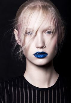 Fashion pictures or video of Blue for You for Make-up Trendy Magazine, no. in the fashion photography channel 'Photo Shoots'. Skin Makeup, Makeup Art, Blue Lips, Europe Fashion, Beautiful Mask, Fashion Shoot, Beauty Trends, Fashion Pictures, Lip Colors