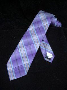 Ben Sherman Lavender Plaid Thin Tie