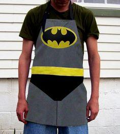 Batman Chef's APRON Cosplay Hero inspired Gift Dad BBQ