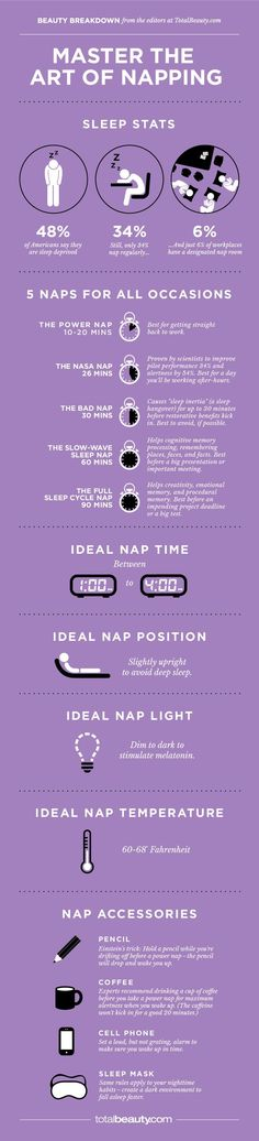 Master the Art of Napping -perfect thing to be thinking of my first day back at work!!