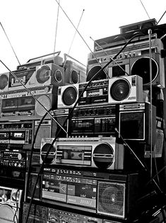 Boom Boxes I love music. Sometimes I wish I was surrounded in a boom box filled room of music.