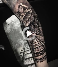 Forest Tattoo Sleeve, Nature Tattoo Sleeve, Wolf Tattoo Sleeve, Full Sleeve Tattoo Design, Forest Tattoos, Full Sleeve Tattoos, Sleeve Tattoos For Women, Nature Tattoos, Tattoos For Guys