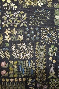Award winning botanical quilt - awesome details