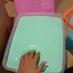 Biggest tub of slime ever Minty mist Sliming World, Instagram Slime, Slimy Slime, Blue Slime, Glossy Slime, Slime Craft, Slime Shops, Homemade Slime, Silly Putty