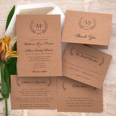 Laurel Wedding Invitations The American Wedding  http://www.theamericanwedding.com/laurel-wedding-invitations.html