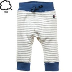 COZY STRIPE ECO NEWBORN PULL-ON PANTS