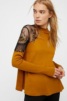 Butterscotch Daniella Top at Free People Clothing Boutique Party Fashion, Diy Fashion, Fashion Outfits, Free People Clothing, Clothes For Women, Women's Clothing, Lace Tops, Floral Tops, Curvy Women Fashion