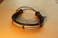 Men's Braided Leather Bracelet wrapped by versionbracelet on Etsy, $3.99 Mens Braids, Braided Leather, Crafting, Reading, Trending Outfits, Unique Jewelry, Bracelets, Handmade Gifts, Books