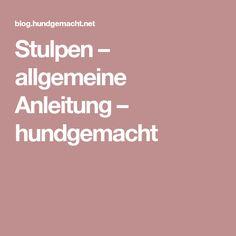 Stulpen – allgemeine Anleitung – hundgemacht