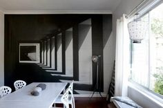 Optical illusions of depth images wall decoration