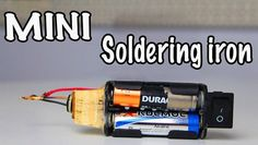 In today's video I am going to show how to make a DIY mini soldering iron that runs on two AA batteries. It is very easy and cost friendly to make such an emergency DIY soldering iron at home. This mini electric appliance is not designed to be used for a long time, rather just to eliminate some small problems. Its batteries don't supply enough energy to run the device for a long time in case of a short circuit that causes heating of the nichrome wire. But its advantage is its mobility…