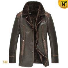 Mens Winter Sheepskin Shearling Coat CW877238 $1548.89 - www.cwmalls.com
