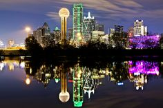 Downtown Dallas Skyline from the Trinity River by William Christie, via Flickr