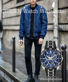 Citizen Watches, Men's Watches, Fair Trade Jewelry, Citizen Eco, Luxury Watches For Men, Shades Of Blue, Cool Style, Bomber Jacket, Jewels