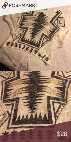 Karlie aztec sweater Like new Karlie Aztec sweater karlie Sweaters Crew & Scoop Necks