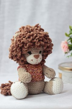 Items similar to Stuffed lion baby toy, Cute lion nursery decor, Baby shower gift on Etsy Crochet Lion, Cute Crochet, Crochet Toys, Crochet Animals, Lion Nursery, Jungle Nursery, Tier Zoo, Lion Toys, Cute Lion
