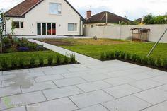 Garden of lines and Kisarn Paving.ie 60 Landscape Design, Garden Design, Ireland Landscape, Garden Landscaping, Sidewalk, Construction, Outdoor Decor, Home Decor, Courtyards