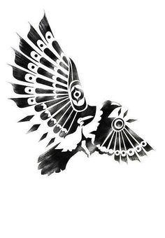 native american tattoo stencils | Raven - Native American