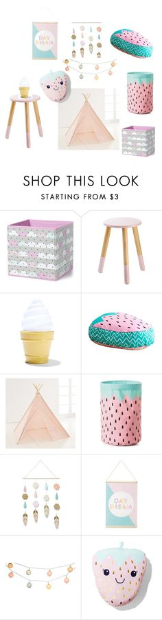 """""""Cray Cray about Kmart """"Pretty In Pink"""""""" by pinkfalmingo on Polyvore featuring interior, interiors, interior design, home, home decor, interior decorating and bedroom"""