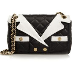 Moschino Revers quilted leather shoulder bag