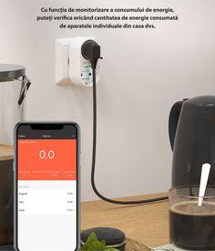 😎Monitorizeaza-t eficient consumul de energie cu ajutorul prizei duble BlitzWolf BW-SHP7! 😎  😊Priza inteligenta BW-SHP7 este o modalitate rapida de a va transforma casa intr-un mod inteligent. Transforma o priza obisnuita intr-o priza dubla inteligenta si controlati de la distanta toate dispozitivele conectate la aceasta, puteti seta un cronometru sau puteti monitoriza consumul de energie.   😃Functioneaza cu asistentii vocali Alexa si Google Home si are o serie de caracteristici de… Wi Fi, Phone, Telephone, Mobile Phones