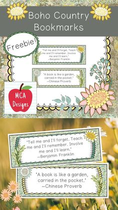 These adorable bookmarks are part of my Boho Country Classroom Decor Collection. I hope you enjoy this freebie! #teacherspayteachers #tpt #bookmark #classroommanagement Classroom Resources, Classroom Decor, Teaching Resources, Easel Activities, Teacher Newsletter, Bookmarks, Give It To Me, Book Reports, Cherubs