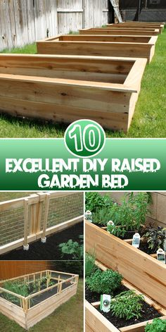 Excellent DIY Raised Garden Bed Using garden beds is a better way to provide your plants a good soil quality with even better draining. They are quite easy to make and manage. These are 10 DIY Rais…