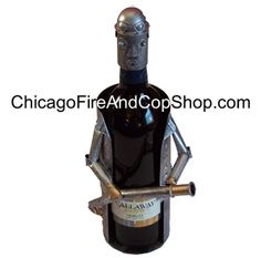 6101 Fireman Wine Caddy Chicago Fire Department and Chicago Police Department gifts.