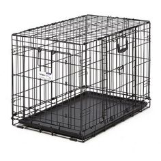 Midwest 30 inch Ovation Double Door Training Crate, Black