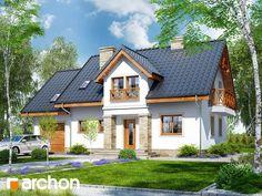 Dom w rezedach 2 Modern House Plans, Home Fashion, Home Interior Design, My Dream Home, Sweet Home, New Homes, Villa, House Design, Cabin