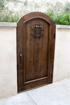 Spanish Style Gates with subtle touches of Old World Hardware accents.