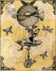 Mushroom Fairy Steampunk Print from winonacookie