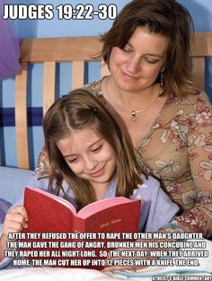 ..Get out your bible and check it! And people read this crap to their kids???