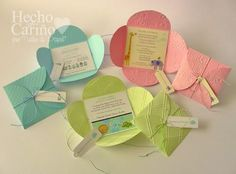 Maria Angelica Venegas uploaded this image to 'Bautizo'. See the album on Photobucket. Ideas Bautizo, Crafts To Do, Paper Crafts, Baptism Cards, Baby Shower Invitaciones, Diy Envelope, First Holy Communion, Announcement Cards, Baby Cards