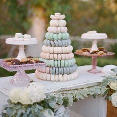 Macaroon Tower Wedding Cakes | SouthBound Bride